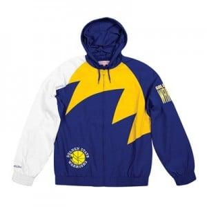 Golden State Warriors Sharktooth Jacket By Mitchell & Ness - Mens