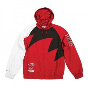 Miami Heat Sharktooth Jacket By Mitchell & Ness - Mens