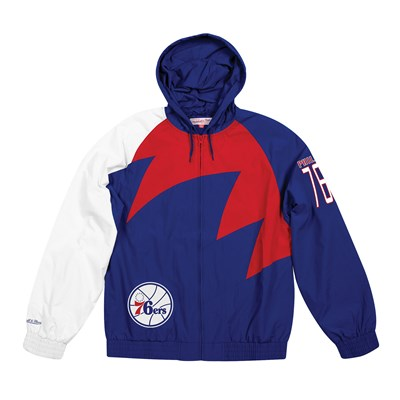 Philadelphia 76ers Sharktooth Jacket By Mitchell & Ness - Mens