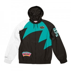 San Antonio Spurs Sharktooth Jacket By Mitchell & Ness - Mens