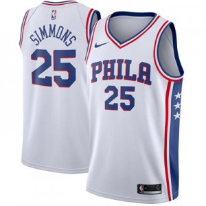 Nike Philadelphia 76ers Nike Association Swingman Jersey - Ben Simmons - Mens Philadelphia 76ers Nike Association Swingman Jersey - Ben Simmons - Mens