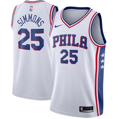 Nike Philadelphia 76ers Nike Association Swingman Jersey - Ben Simmons - Mens Philadelphia 76ers Nike Association Swingman Jersey - Ben Simmons - Mens