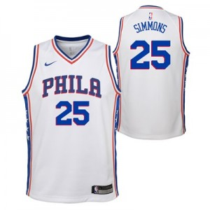 Nike Philadelphia 76ers Nike Association Swingman Jersey - Ben Simmons - Youth Philadelphia 76ers Nike Association Swingman Jersey - Ben Simmons - Youth