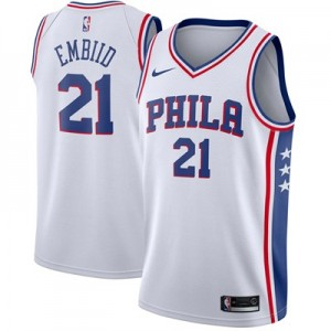 Nike Philadelphia 76ers Nike Association Swingman Jersey - Joel Embiid - Mens Philadelphia 76ers Nike Association Swingman Jersey - Joel Embiid - Mens