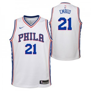 Nike Philadelphia 76ers Nike Association Swingman Jersey - Joel Embiid - Youth Philadelphia 76ers Nike Association Swingman Jersey - Joel Embiid - Youth