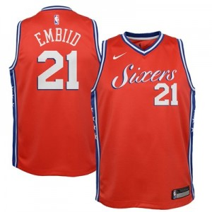 Nike Philadelphia 76ers Nike Statement Swingman Jersey - Joel Embiid - Youth Philadelphia 76ers Nike Statement Swingman Jersey - Joel Embiid - Youth