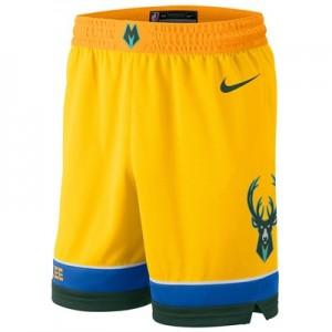 Milwaukee Bucks Nike City Edition Swingman Short - Youth
