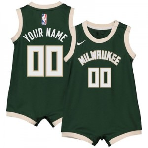 Nike Milwaukee Bucks Nike Icon Replica Onesie Jersey - Custom - Infant Milwaukee Bucks Nike Icon Replica Onesie Jersey - Custom - Infant