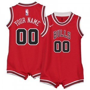 Nike Chicago Bulls Nike Icon Replica Onesie Jersey - Custom - Infant Chicago Bulls Nike Icon Replica Onesie Jersey - Custom - Infant