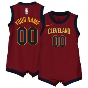 Nike Cleveland Cavaliers Nike Icon Replica Onesie Jersey - Custom - Infant Cleveland Cavaliers Nike Icon Replica Onesie Jersey - Custom - Infant