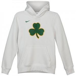 Boston Celtics Nike City Edition Essential Logo Hoodie - Youth