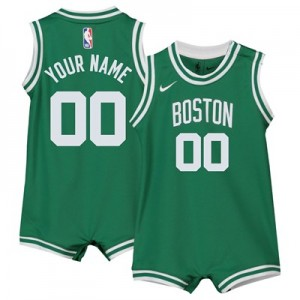 Nike Boston Celtics Nike Icon Replica Onesie Jersey - Custom - Infant Boston Celtics Nike Icon Replica Onesie Jersey - Custom - Infant