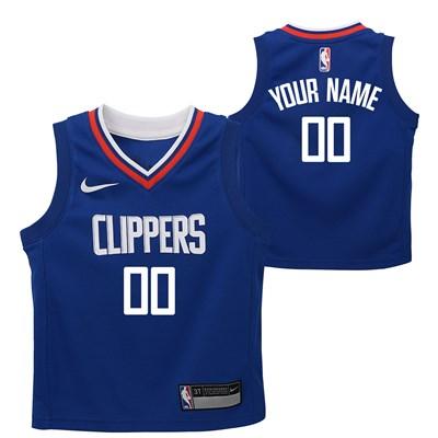 Nike LA Clippers Nike Icon Replica Onesie Jersey - Custom - Infant LA Clippers Nike Icon Replica Onesie Jersey - Custom - Infant