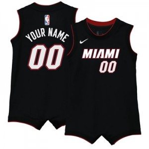 Nike Miami Heat Nike Icon Replica Onesie Jersey - Custom - Infant Miami Heat Nike Icon Replica Onesie Jersey - Custom - Infant