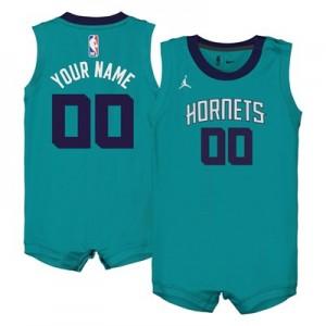 Nike Charlotte Hornets Jordan Icon Replica Onesie Jersey - Custom - Infant Charlotte Hornets Jordan Icon Replica Onesie Jersey - Custom - Infant