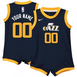 Nike Utah Jazz Nike Icon Replica Onesie Jersey - Custom - Infant Utah Jazz Nike Icon Replica Onesie Jersey - Custom - Infant