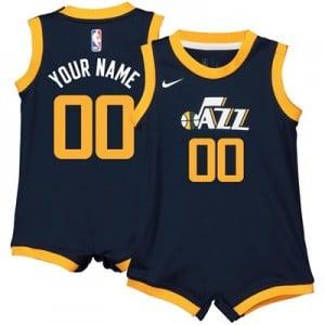 Nike Utah Jazz Nike Icon Replica Onesie Jersey - Custom - Infant Utah Jazz Nike Icon Replica Onesie Jersey - Custom - Infant