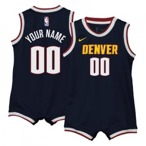 Nike Denver Nuggets Nike Icon Replica Onesie Jersey - Custom - Infant Denver Nuggets Nike Icon Replica Onesie Jersey - Custom - Infant