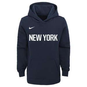 New York Knicks Nike City Edition Essential Logo Hoodie - Youth