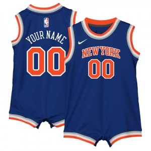 Nike New York Knicks Nike Icon Replica Onesie Jersey - Custom - Infant New York Knicks Nike Icon Replica Onesie Jersey - Custom - Infant