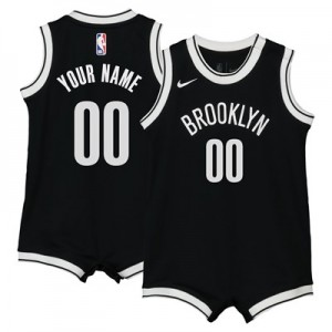 Nike Brooklyn Nets Nike Icon Replica Onesie Jersey - Custom - Infant Brooklyn Nets Nike Icon Replica Onesie Jersey - Custom - Infant