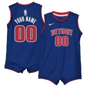 Nike Detroit Pistons Nike Icon Replica Onesie Jersey - Custom - Infant Detroit Pistons Nike Icon Replica Onesie Jersey - Custom - Infant
