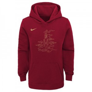 Houston Rockets Nike City Edition Essential Logo Hoodie - Youth
