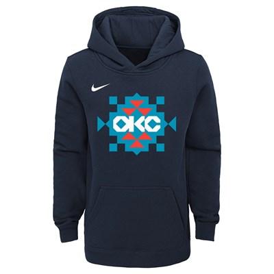 Oklahoma City Thunder Nike City Edition Essential Logo Hoodie - Youth