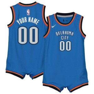 Nike Oklahoma City Thunder Nike Icon Replica Onesie Jersey - Custom - Infant Oklahoma City Thunder Nike Icon Replica Onesie Jersey - Custom - Infant