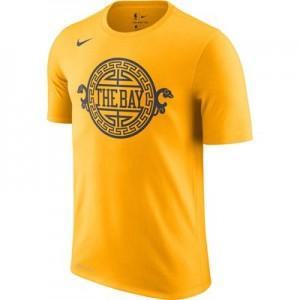 Golden State Warriors Nike City Edition Logo T-Shirt - Youth
