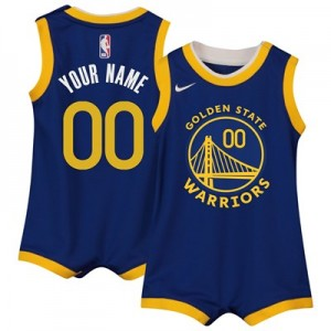 Nike Golden State Warriors Nike Icon Replica Onesie Jersey - Custom - Infant Golden State Warriors Nike Icon Replica Onesie Jersey - Custom - Infant