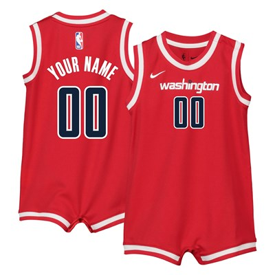Nike Washington Wizards Nike Icon Replica Onesie Jersey - Custom - Infant Washington Wizards Nike Icon Replica Onesie Jersey - Custom - Infant