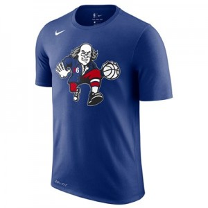Philadelphia 76ers Nike City Edition Logo T-Shirt - Youth