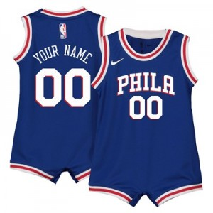 Nike Philadelphia 76ers Nike Icon Replica Onesie Jersey - Custom - Infant Philadelphia 76ers Nike Icon Replica Onesie Jersey - Custom - Infant