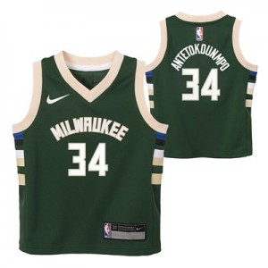 Nike Milwaukee Bucks Nike Icon Replica Jersey - Giannis Antetokounmpo - Toddler Milwaukee Bucks Nike Icon Replica Jersey - Giannis Antetokounmpo - Toddler