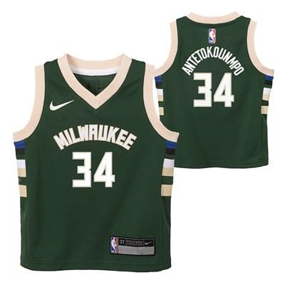 Nike Milwaukee Bucks Nike Icon Replica Jersey - Giannis Antetokounmpo - Toddler Milwaukee Bucks Nike Icon Replica Jersey - Giannis Antetokounmpo - Toddler
