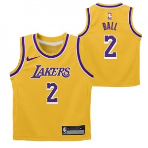 Nike Los Angeles Lakers Nike Icon Replica Jersey - Lonzo Ball - Toddler Los Angeles Lakers Nike Icon Replica Jersey - Lonzo Ball - Toddler