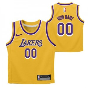 Nike Los Angeles Lakers Nike Icon Replica Jersey - Custom - Kids Los Angeles Lakers Nike Icon Replica Jersey - Custom - Kids