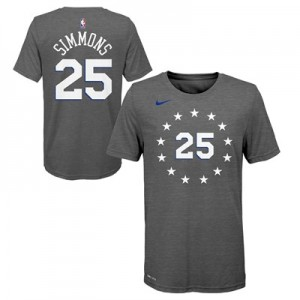 Philadelphia 76ers Nike City Edition Name & Number T-Shirt - Joel Embiid - Youth