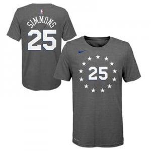 Philadelphia 76ers Nike City Edition Name & Number T-Shirt - Joel Embiid - Youth