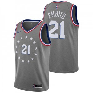 Nike Philadelphia 76ers Nike City Edition Swingman Jersey - Joel Embiid - Youth Philadelphia 76ers Nike City Edition Swingman Jersey - Joel Embiid - Youth