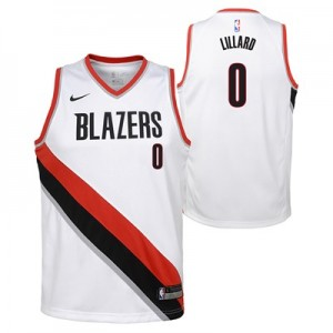 Nike Portland Trail Blazers Nike Association Swingman Jersey - Damian Lillard - Youth Portland Trail Blazers Nike Association Swingman Jersey - Damian Lillard - Youth