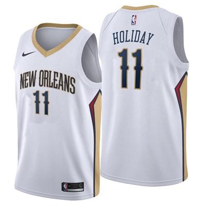 Nike New Orleans Pelicans Nike Association Swingman Jersey - Jrue Holiday - Mens New Orleans Pelicans Nike Association Swingman Jersey - Jrue Holiday - Mens
