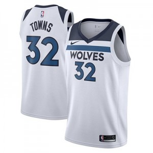 Nike Minnesota Timberwolves Nike Association Swingman Jersey - Karl-Anthony Towns - Mens Minnesota Timberwolves Nike Association Swingman Jersey - Karl-Anthony Towns - Mens