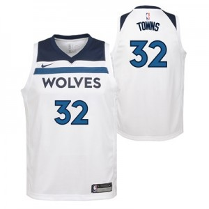 Nike Minnesota Timberwolves Nike Association Swingman Jersey - Karl-Anthony Towns - Youth Minnesota Timberwolves Nike Association Swingman Jersey - Karl-Anthony Towns - Youth
