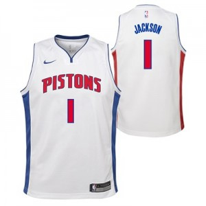 Nike Detroit Pistons Nike Association Swingman Jersey - Reggie Jackson - Youth Detroit Pistons Nike Association Swingman Jersey - Reggie Jackson - Youth