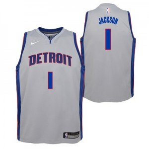 Nike Detroit Pistons Nike Statement Swingman Jersey - Reggie Jackson - Youth Detroit Pistons Nike Statement Swingman Jersey - Reggie Jackson - Youth
