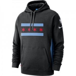 Chicago Bulls Nike City Edition Courtside Hoodie - Mens