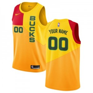 Nike Milwaukee Bucks Nike City Edition Swingman Jersey - Custom - Mens Milwaukee Bucks Nike City Edition Swingman Jersey - Custom - Mens
