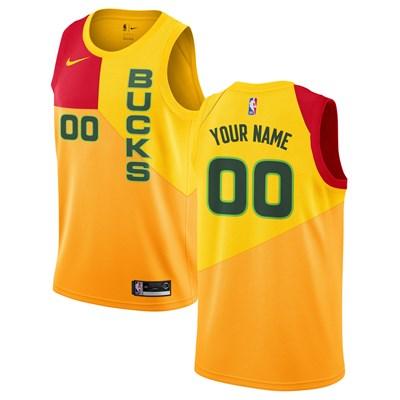 Nike Milwaukee Bucks Nike City Edition Swingman Jersey - Custom - Mens Milwaukee Bucks Nike City Edition Swingman Jersey - Custom - Mens